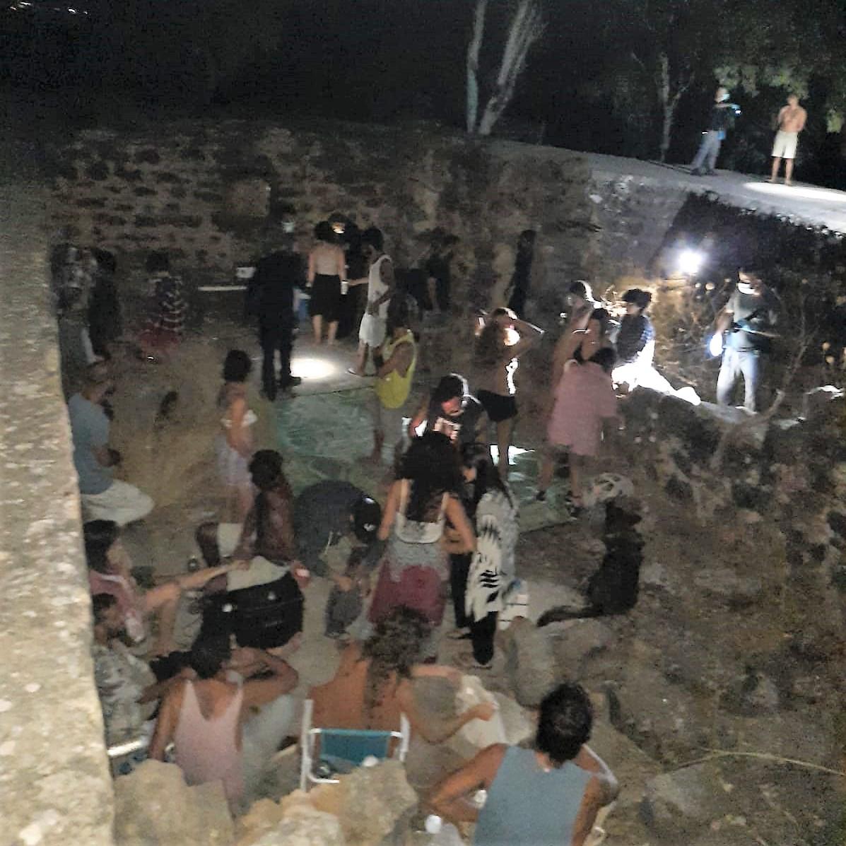 מסיבה בבניאס בניגוד להנחיות